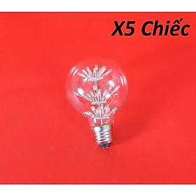 Bộ 5 bóng đèn led trang trí hình G80, đèn trang trí độc đáo hàng chính hãng
