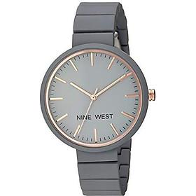 Nine West Women's NW/2012LPRG Matte Pastel Pink Rubberized Bracelet Watch