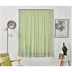 Rèm cửa dán 2 lớp Marytexco trời sao màu trơn cho cửa sổ phòng ngủ, ký túc xá, dán tường trang trí decor tự dính, không cần khoan và thanh treo, chất liệu dày dặn cản nắng cản sáng tốt