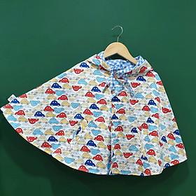 Áo khoác chống nắng 4 mùa kiểu áo cánh dơi poncho cho bé trai bé gái mẫu ô tô nhiều màu cá tính cho bé từ sơ sinh đến 12 tuổi-0