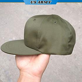 Mũ Lưỡi Trai Lính Mỹ US ARMY U553, Nón Kết Vành Phẳng, Màu Lính, Kiểu Dáng Mũ 6 Múi Phong Cách Soái Ca-HÀNG CHÍNH HÃNG