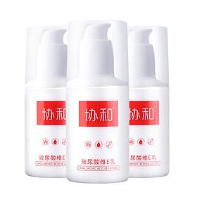 XIEHE Hyaluronic Acid + Vitamin E Moisturizing Cream Body Lotion 100ml*3 Bottles