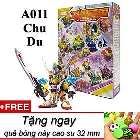Mô hình trang trí để bàn sd A011 Chu Du bản mới Tam Quốc 2020 full box tặng kèm quả bóng nảy cao su làm đồ chơi thú vị