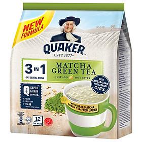 Thức uống yến mạch Quaker 3 in1 - Vị trà xanh Matcha