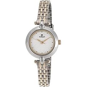 Titan Women's 2521BM01 Contemporary Silver Metal Strap Watch