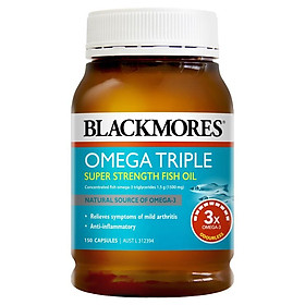Blackmores Omega Triple Concentrated Fish Oil 150 Capsules