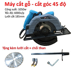 Máy cắt gỗ, máy cắt gạch 8001B công suất 1050w, khả năng cắt góc 45 độ - tặng kèm lưỡi cắt gỗ 180mm