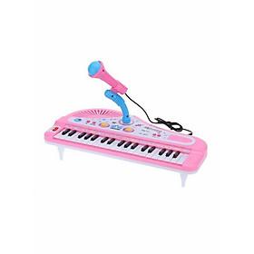 Đồ Chơi Đàn Piano Hoạt Hình Điện Tử Với Micro Cho Trẻ (37 Phím) Nhiểu Màu Sắc