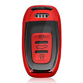 TPU Car Key Cover Button Start Smart Modle Key Case Shell for Audi A6L Q5 S6 R8