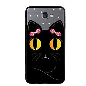 Ốp lưng viền TPU cho Samsung Galaxy J7 Prime - Mèo Mun 02