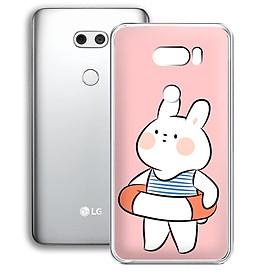 Ốp lưng điện thoại LG V30 - 01253 7903 RABBIT01 - Silicon dẻo - Hàng Chính Hãng