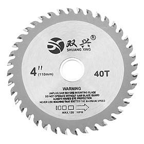 Effetool 4 Inch 40 Teeth Circular Saw Blade Acrylic Plastic Woodworking Cutting Blade
