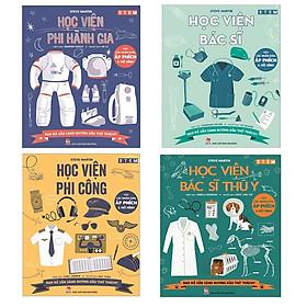 Sách bộ 04 cuốn STEM #3 - Học viện Phi công/ Học viện Bác sĩ/ Học viện Phi hành gia/ Học viện Bác sĩ thú y