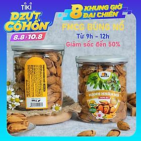 Hạt Hạnh Nhân Mỹ Rang Bơ Smile Nuts (215g - 350g) | 100% nhập khẩu từ Mỹ, thơm ngon, giòn béo