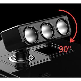 Bộ chia tẩu sạc trên ô tô HY-29 3 đầu tẩu 2 cổng USB hỗ trợ sạc nhanh QC 3.0