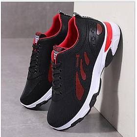 Giày sneakers nam thời trang Thiết kế Đế Cao Su Đúc, Chống Trơn Trượt đi êm chân