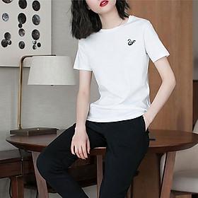 Áo Thun Nữ Thời Trang In Logo Thiên Nga