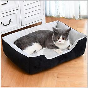 Đệm ngủ chó mèo, nệm ngủ hình chữ nhật dày ấm áp cho thú cưng chó mèo