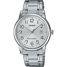 Đồng hồ nam dây thép không gỉ casio MTP-V002D-7BUDF