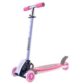 Xe scooter bánh xe có đèn phát sáng cho bé màu hồng