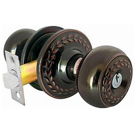 Ổ khóa cửa tay nắm tròn Việt Tiệp 04204  cò dài / cò ngắn, làm từ hợp kim thép inox màu đen vàng dành cho các loại cửa thông phòng chất liệu gỗ, nhôm, sắt,...