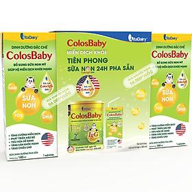 Lốc 4 Hộp Sữa Bột Pha Sẵn ColosBaby Gold - 180ml