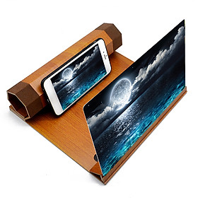 Multifunctional 12in Lightweight Wooden High Definition Phone Screen Amplifier Magnifier Eye Protections Display