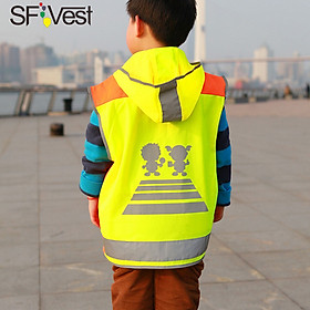 Áo Phản Quang Bảo Vệ Tổng Thể Cho Trẻ Em SFVest Vàng
