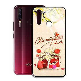 Ốp Lưng Kính Cường Lực cho điện thoại Vivo Y15 - 0362 7982 HPNY 24 - Tết đoàn viên - Hàng Chính Hãng