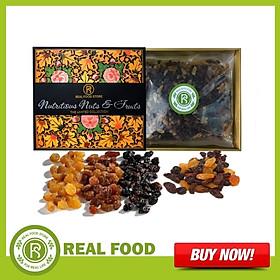 Hộp Quà Sức Khỏe: Nho Khô Mỹ 3 Màu Cao Cấp Real Food (1kg)