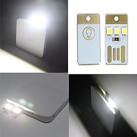 Đèn USB Mini Ánh Sáng Trắng Cho Laptop Và Đọc Sách (2 Cái)