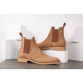Giày Da Nam Chelsea Boots Giày Da  Bò Lộn Đế Cao Su Cao Cấp Êm Cực Bền  BẢO HÀNH 12 THÁNG Tặng Kèm Phụ Kiện Khi Mua Sản Phẩm