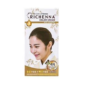 Thuốc nhuộm tóc phủ bạc thảo dược Richenna Hi-Speedy Color Hàn Quốc 60g màu nâu hạt dẻ sáng