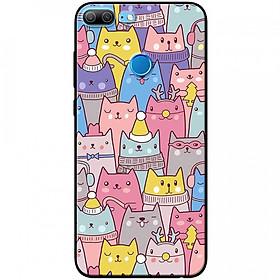 Ốp lưng dành cho Honor 9 Lite mẫu Nhiều chú mèo