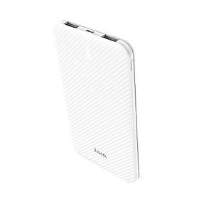 Sạc dự phòng Hoco dung lượng 5000mAh chất liệu PC chống cháy đèn Led hiển thị pin - Hàng chính hãng