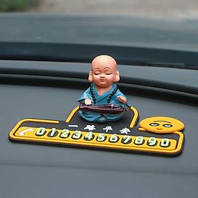 Bảng ghi số điện thoại trên xe ô tô, xe hơi [hình chú tiểu ngộ nghĩnh, dê thương]