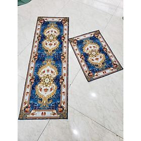 Thảm Bếp Bali siêu mềm mịn Bộ 2 Tấm 40x60cm + 120x40cm Sunzin Có đế chống trơn.