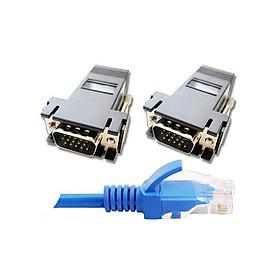 Cáp mạng tốc độ cực cao Cat6 10m / Bộ mở rộng tín hiệu VGA sang RJ45 Bravo-u