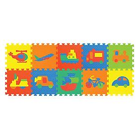 Thảm Ghép Hình Phương Tiện Giao Thông 10 Miếng Pamama P0304 (62 x 32 cm)