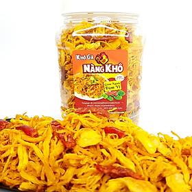 Khô gà bơ tỏi loại ngon ( Giòn ngon - Đậm vị ) - 500gram thương hiệu Nàng Khô