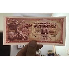 Combo 2 tờ tiền cổ Nam Tư, con Ngọ phong thủy, quốc gia đã tan rã