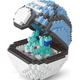 Mô hình lắp ghép Pokemon Lego dạng Pokeball (2)- Tặng kèm móc khóa Pokemon cao cấp