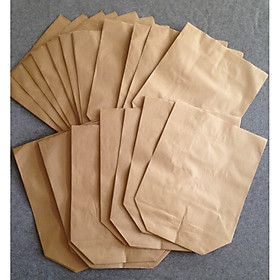 Túi giấy kraft xi măng (100 túi/tập), gói hàng , đựng thực phẩm