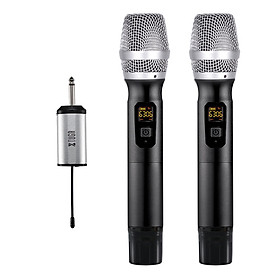 "XTUGA X-400 25 Channel UHF Wireless Microphone Dual Microphone with Mini Potable Receiver 1/4"" Output"