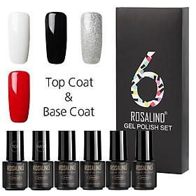 ROSALIND 6Pcs/Lot 7ML Nail Soak-off Gel Polish UV Nail Long-lasting Polish Set for Manicure Gel Lacquer
