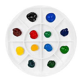 Combo 5 Khay pha màu nước 12 ngăn tiện lợi phù hợp cho học sinh, sinh viên và những ai đam mê hội họa (5 cái)
