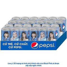 Thùng 24 Lon Nước Giải Khát Pepsi X Blackpink Phiên Bản Giới Hạn (330ml/Lon) (Mẫu Ngẫu Nhiên)