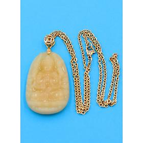 Hình đại diện sản phẩm Vòng cổ phật Thiên Thủ Thiên Nhãn - thạch anh vàng 4.3cm DIVTVO8 - dây inox - tuổi Tý