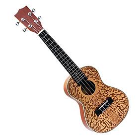 Baoblade 4 Dây Chuyên Nghiệp Chắc Chắn Vân SAM 24Inch Đàn Concert Ukulele Hawaii Đàn Guitar