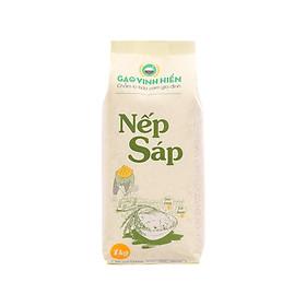 Gạo Nếp Sáp Vinh Hiển túi 1KG (dẻo dính, xôi thơm) Nếp sạch 3 KHÔNG